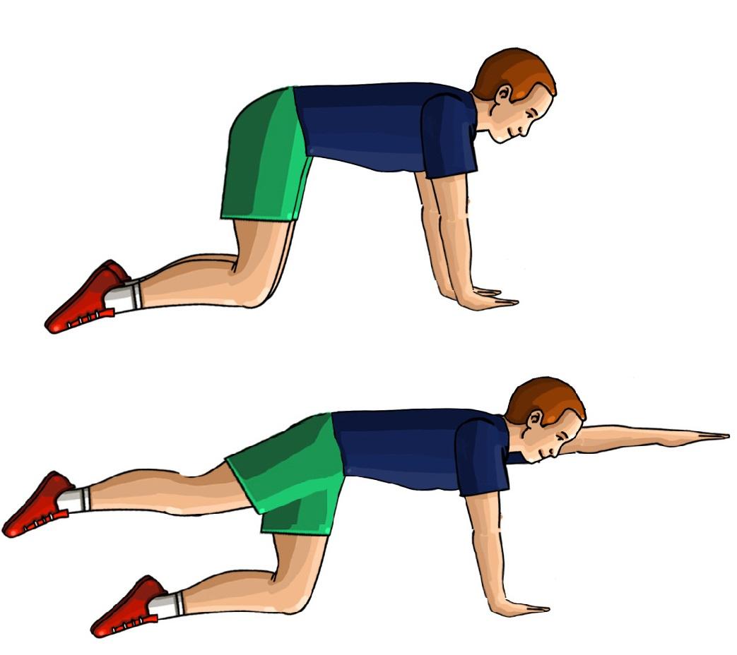 Ćwiczenie wzmacniające mięśnie grzbietu i pośladków