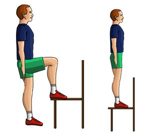 Wchodzenie na krzesło